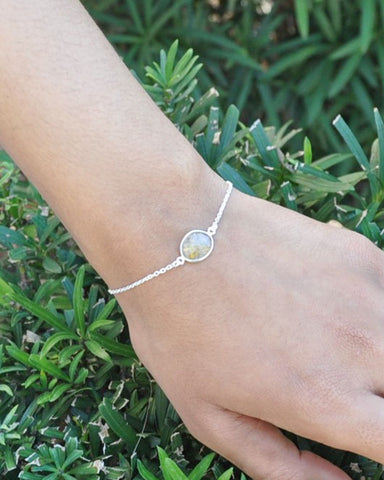 Power Gemstone Bracelet for Balance - Gold Rutilated Quartz