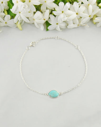 Power Gemstone Bracelet for Healing - Turquoise