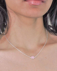 Power Gemstone Necklace for Confidence - Rhodonite