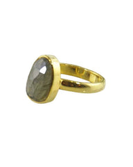 Power Gemstone Ring for Transformation Gold Vermeil - Labradorite