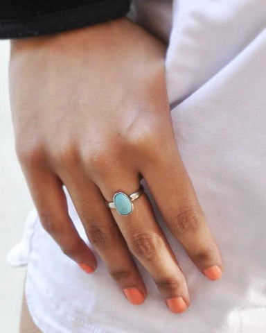 Power Gemstone Ring for Healing - Turquoise