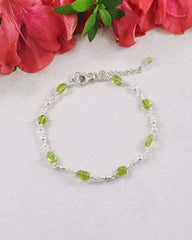 Purification Peridot Sterling Silver Bracelet