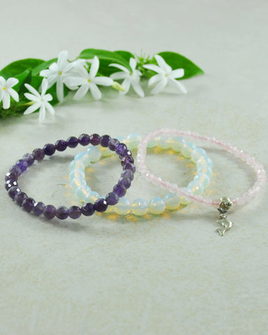 Sea Love Dolphin Mini Gemstone Bracelet Set