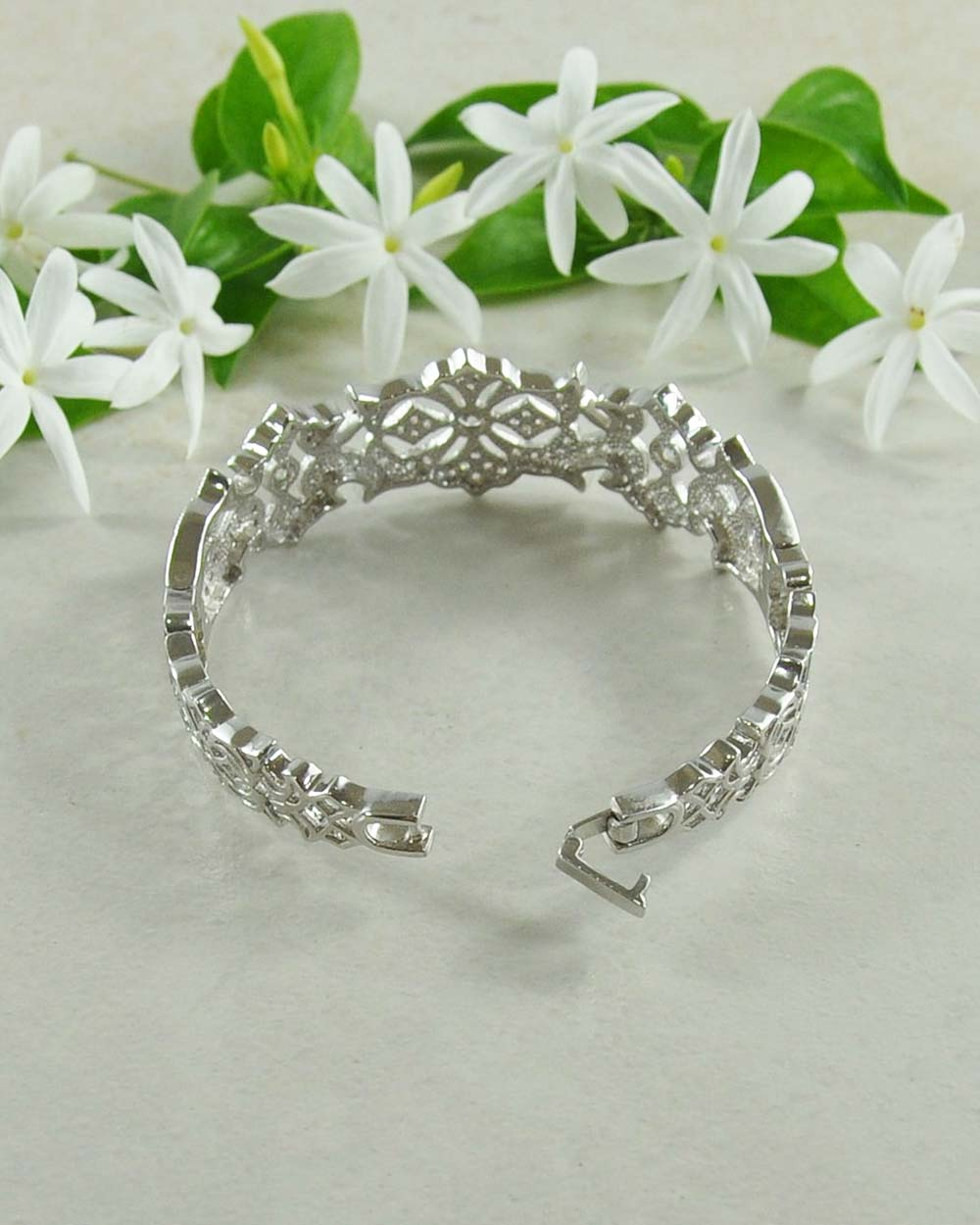 Starlight Brilliant CZ Studded Bracelet in 925 Sterling Silver