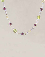 Wanderlust Multi Gemstone Sterling Silver Necklace