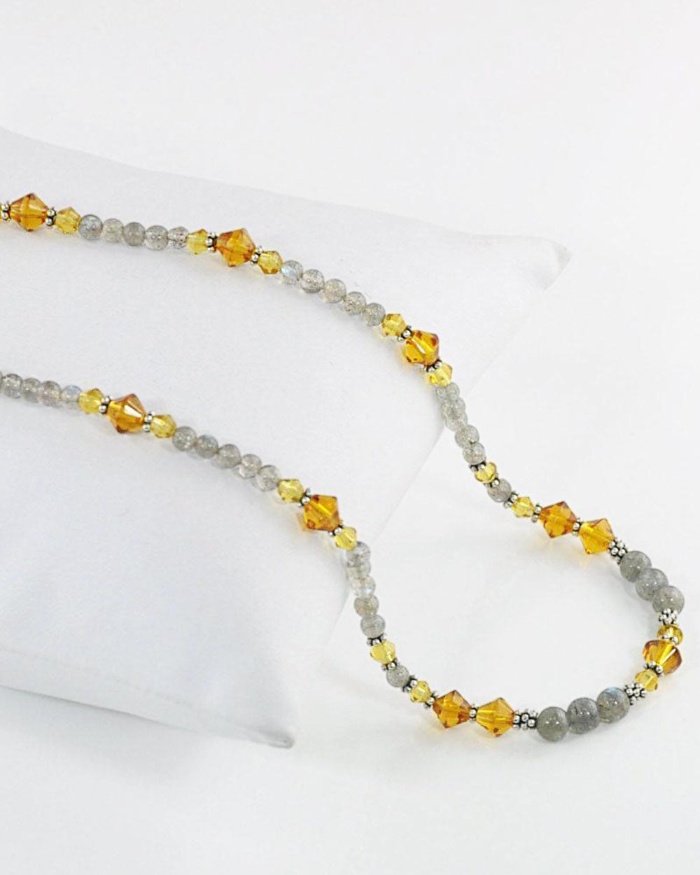 Confidence Labradorite and Yellow Crystals Necklace