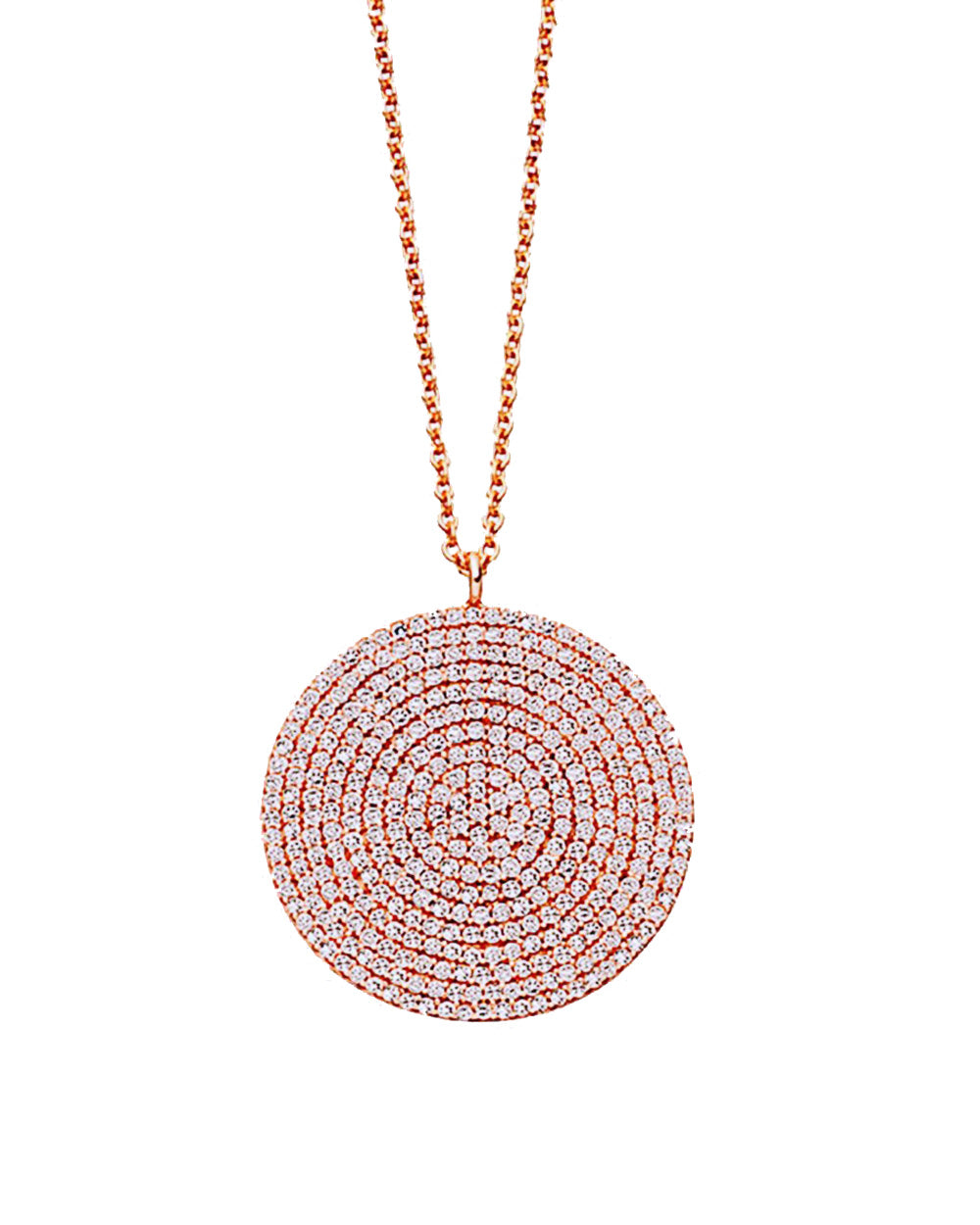 Starlight Disk Pendant Necklace in Rose Gold