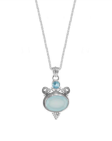 Tantra Peruvian Opal Sterling Silver Necklace