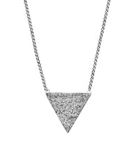 Trilogy Aura Druzy Agate Necklace in 925 Sterling Silver