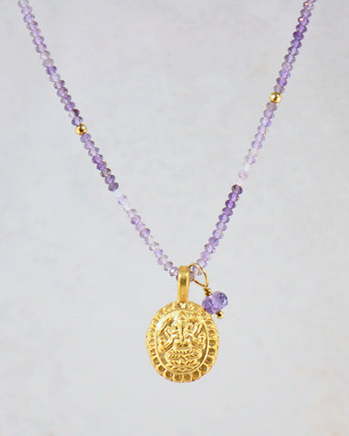 Abundant Prosperity Necklace Gold Vermeil
