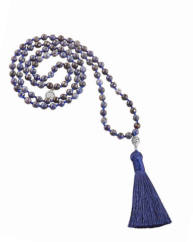Aligned in Purpose Mala Dumortierite