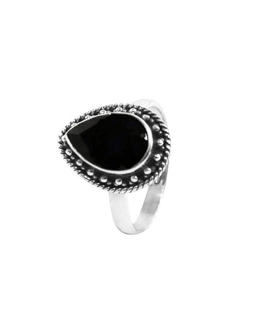 Amalfi Black Onyx Sterling Silver Ring
