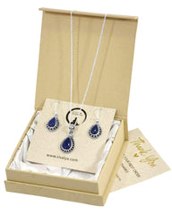 Amalfi Lapis Lazuli Necklace and Earrings Set in Sterling Silver