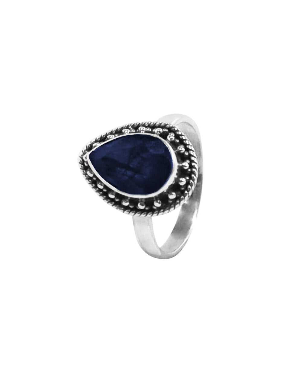 Amalfi Raw Sapphire Sterling Silver Ring