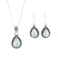 Amalfi Moonstone Necklace and Earrings Set in Sterling Silver