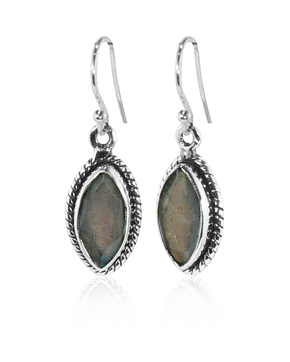 Ananda Sterling Silver Earrings - Labradorite