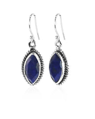 Ananda Sterling Silver Earrings - Lapis Lazuli