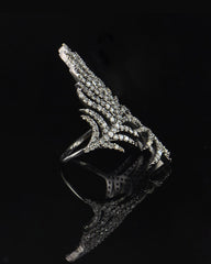 Angel Wings 1.24 Carat Natural Diamonds Ring