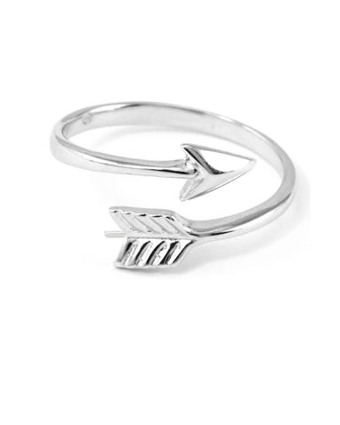 Bohemian Arrow Pinky Ring in Sterling Silver