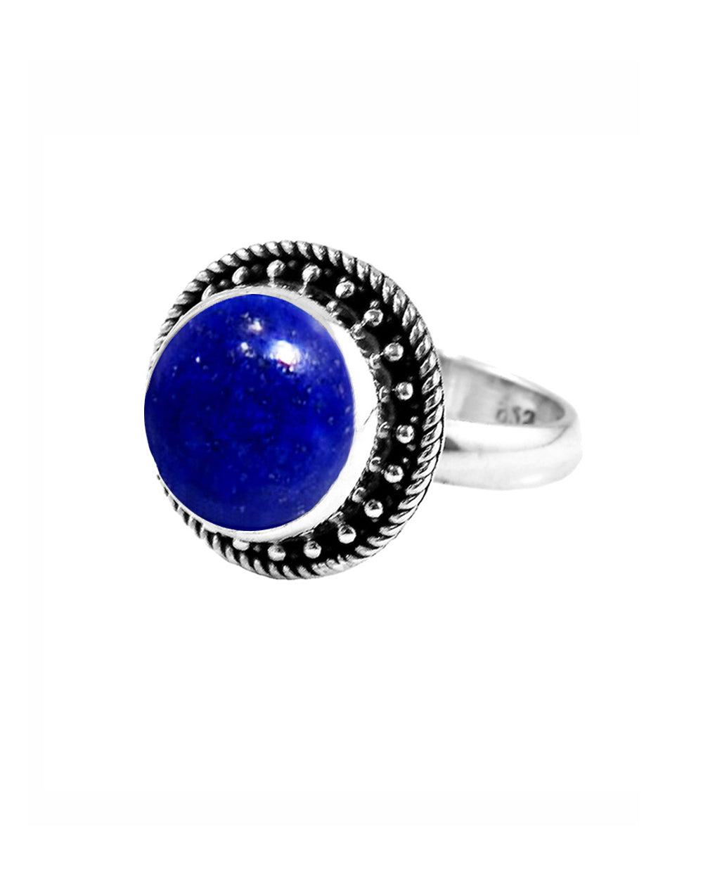 Aurora Lapis Lazuli Ring in Sterling Silver