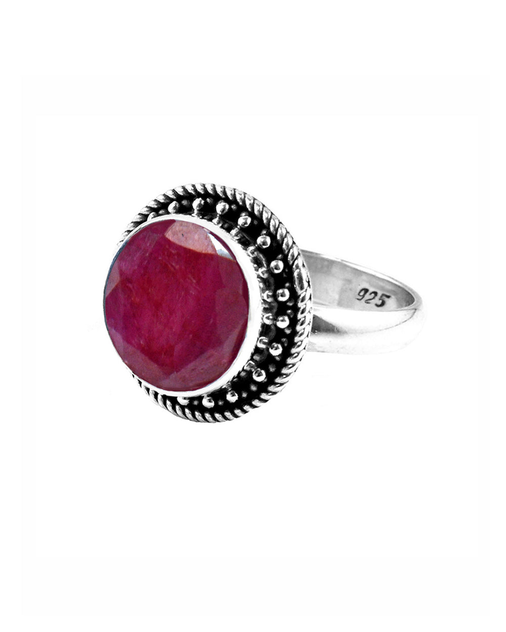 Aurora Raw Ruby Ring in Sterling Silver