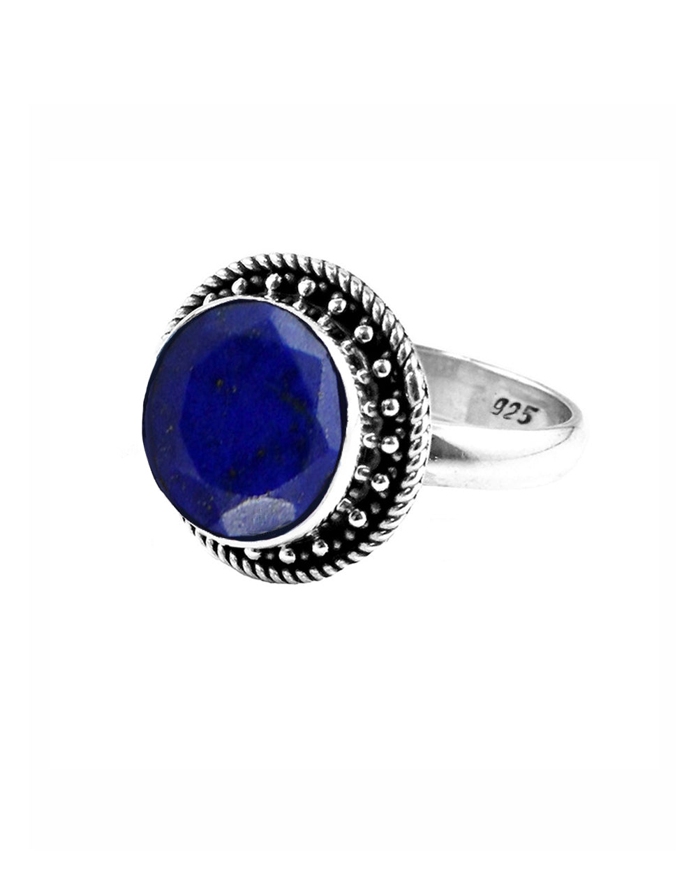 Aurora Raw Sapphire Ring in Sterling Silver