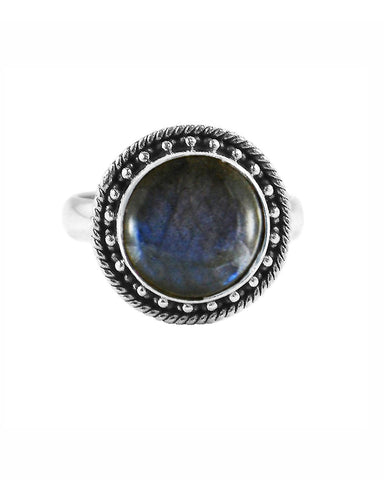 Aurora Labradorite Ring in Sterling Silver