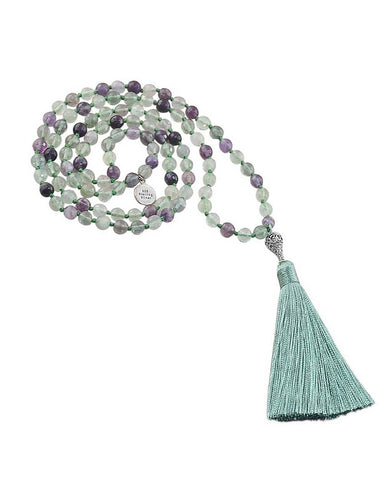 Awareness and Spirituality Mala Rainbow Fluorite