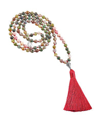 Balance and Harmony Mala Jasper and Rhodonite