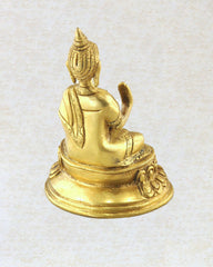 Blessings Medicine Buddha Brass Statue 4.5 inches