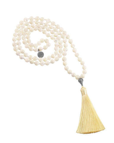 Blissful Calmness Mala Mother of Pearl