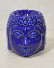 Serene Buddha Essential Oil Diffuser Blue Ceramic