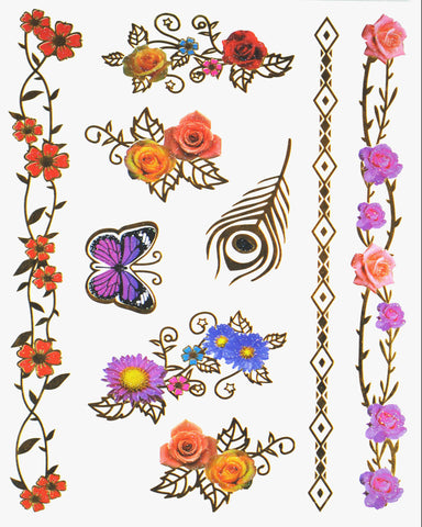 Boheme Goddess Pack Metallic Flash Tattoo - Silver Trendz