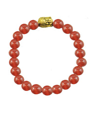 Healing Gemstone Beads Buddha Head Bracelet