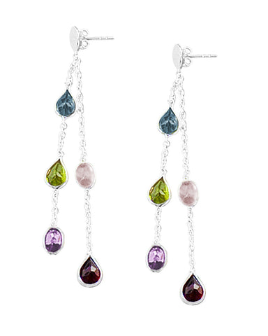 Bright Beginnings Multigem Earrings Sterling Silver