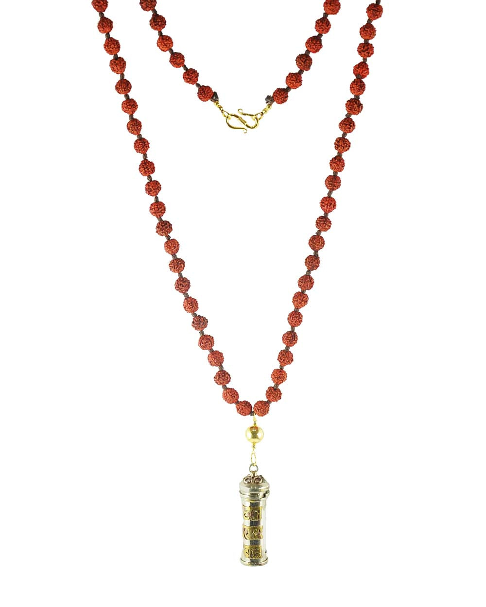 Buddhist Mantra Prayer Box and 108 Rudraksha Beads Mala
