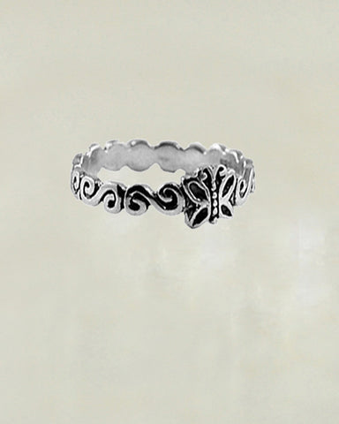 Butterfly Garden Sterling Silver Ring