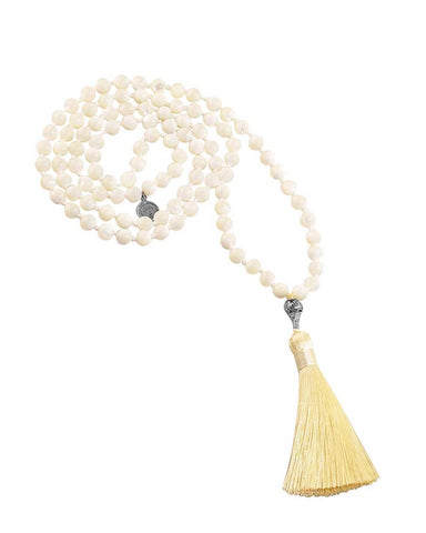 Calming Clarity Mala Mother of Pearl