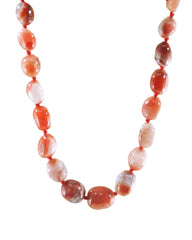 Natural Carnelian Large Crystals Necklace