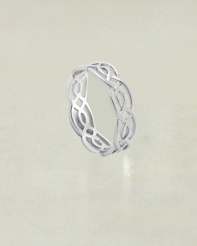 Sacred Scroll Sterling Silver Ring