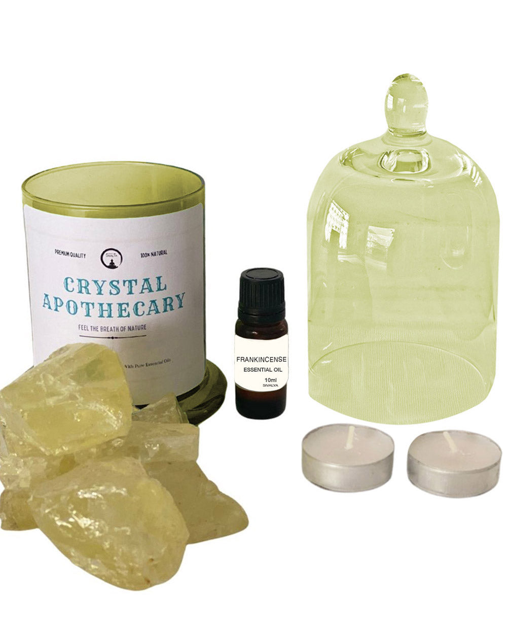 Manifesting Abundance Citrine and Frankincense Oil Crystal Diffuser