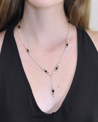 Cosmic Protection Sterling Silver Lariat Necklace