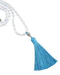 Courage and Protection Mala Aquamarine