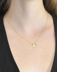 Dainty Buddha Gold Vermeil Necklace Moonstone
