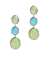 Dew Drops Multi-gem Peruvian Opal Dangle Earrings