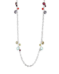 Dewdrops Multi-Gemstone Sterling Silver Necklace