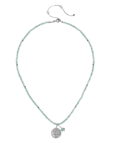 Earth Elements Necklace with Amazonite in Sterling Silver