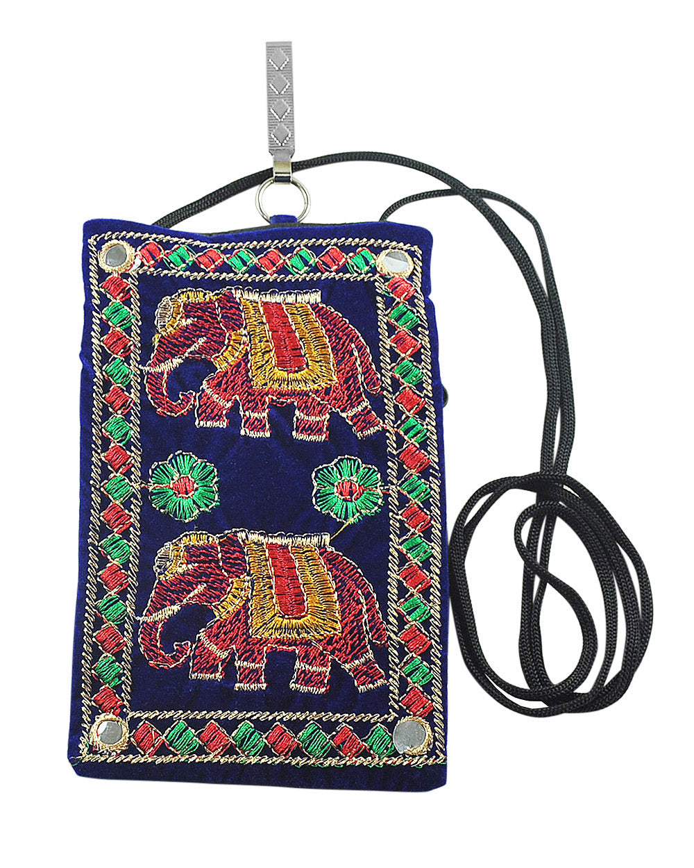 Elephant Bliss and Strength - Embroidery Crossbody Bag