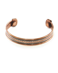 Buddhist Eternal Knot Copper and Brass Magnetic Cuff Bracelet