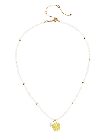 Ether Elements Necklace with Moonstone in Gold Vermeil